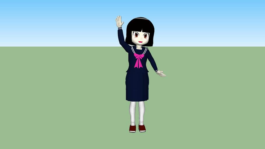 セーラー服の高校生 ~ A Japanese high school girl ~