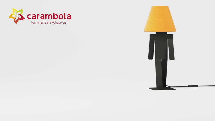 Luminária João - Amarelo | Carambola Luminárias