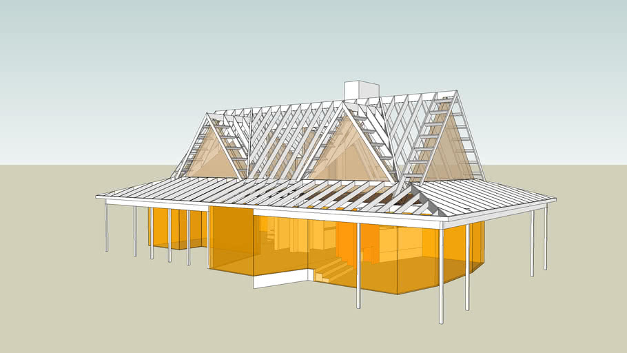 Gabled House Structure 3d Warehouse
