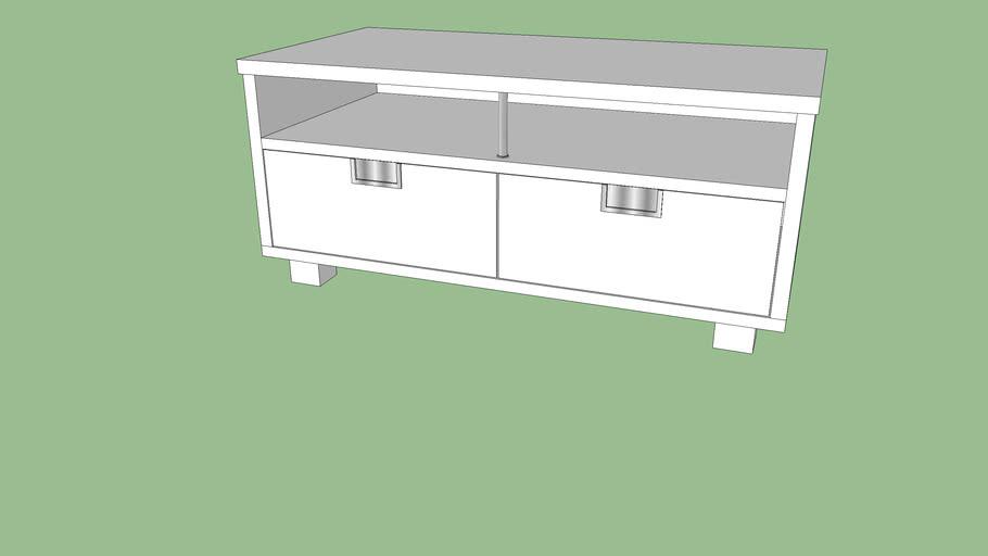 Tv Meubel Besta Jagra.Ikea Besta Jagra Mobile Tv Table Pojizdny Tv 120x60x54 3d