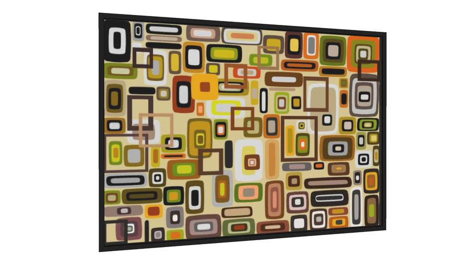Quadro Composição Abstrata 663 - Galeria9, por Estevez