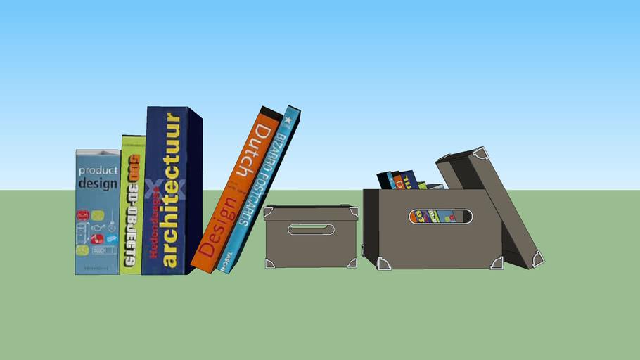 Livros com caixas