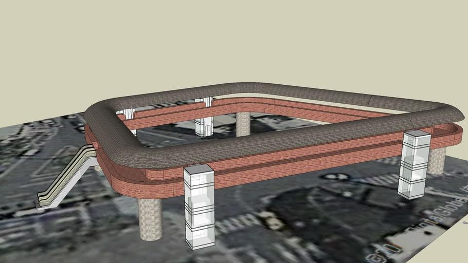 蘭陽技術學院 期末模型設計-天橋