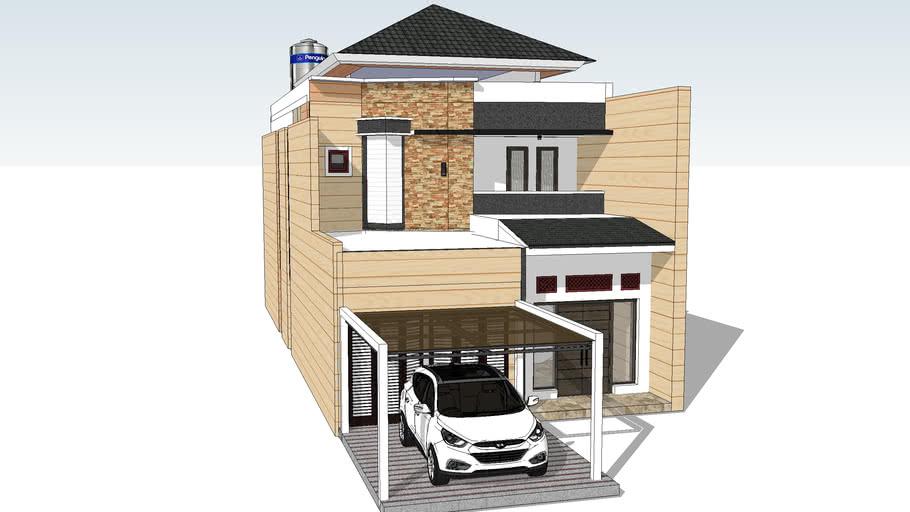 RUMAH 2 LANTAI MODEL COKLAT | 3D Warehouse