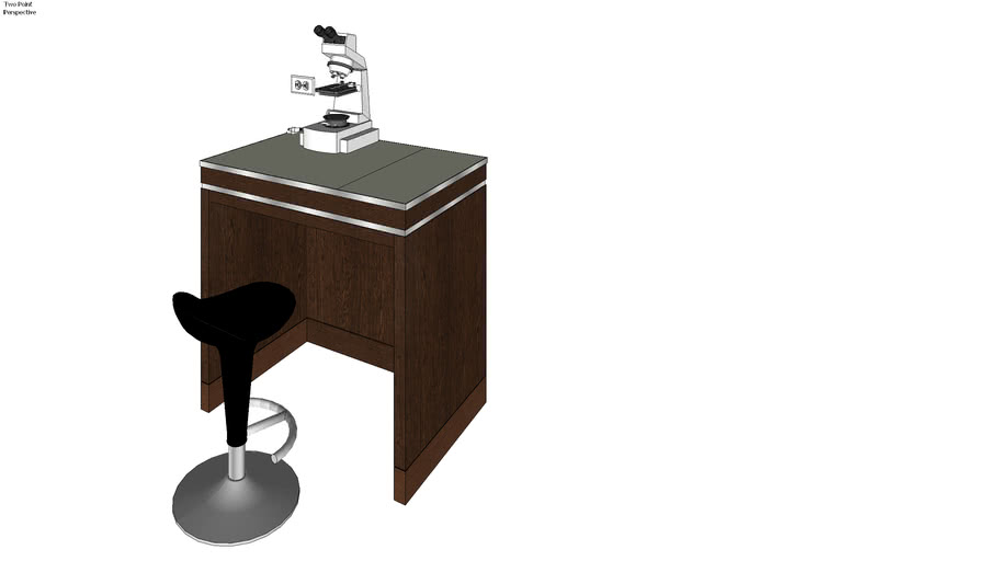 LABORATORY TABLE with chair