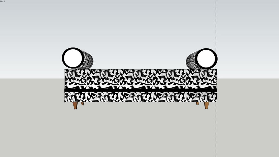 Bench Settee Black n White by DiDi S.