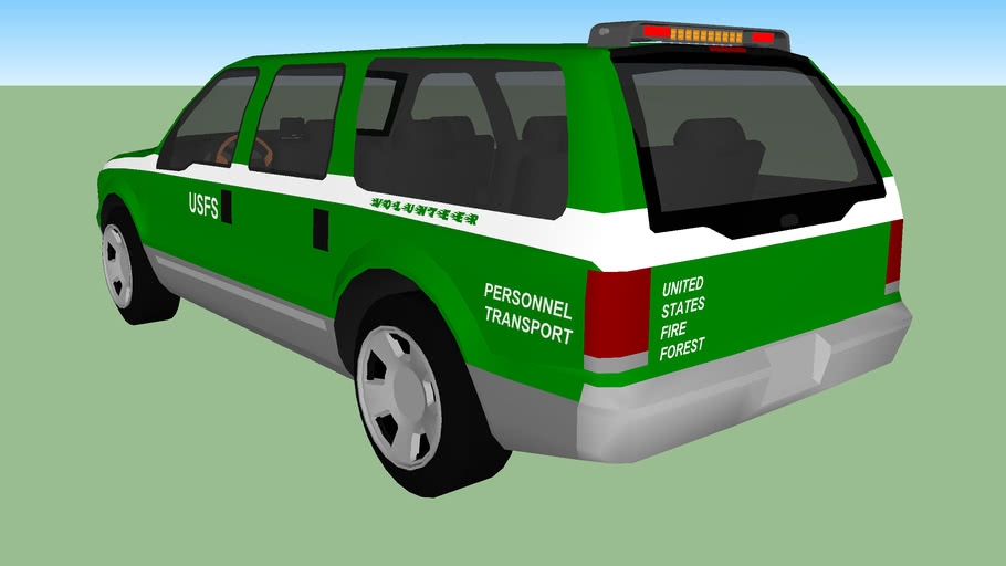 USFS (United States Fire Forest) Volunteer Personnel Transport Vehicle