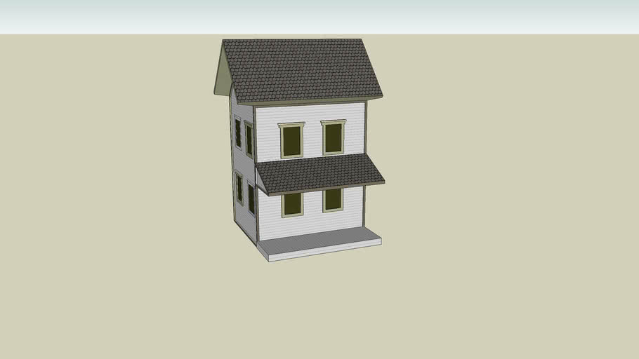 two story house in progress