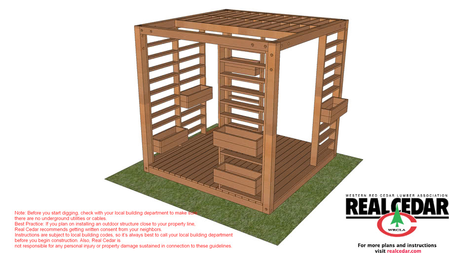Manly Pergola with louvered sides