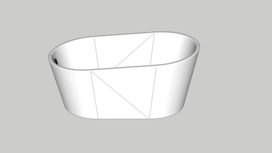 Small freestanding modern bathtub