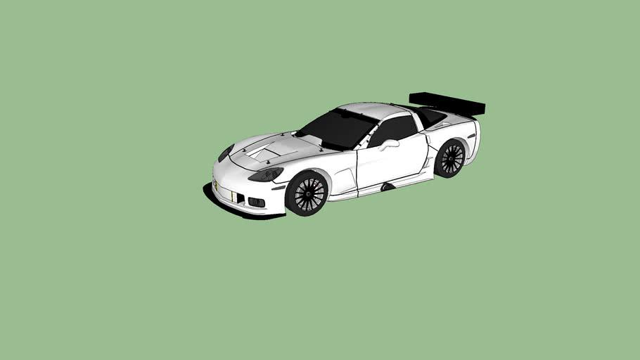 black and white corvette