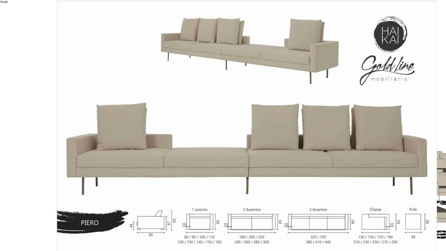 Sofá Piero - Um e Dois Assentos