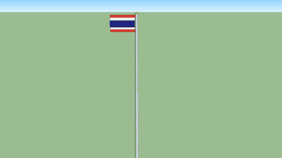 Thai flag pole เสาธงชาติไทย