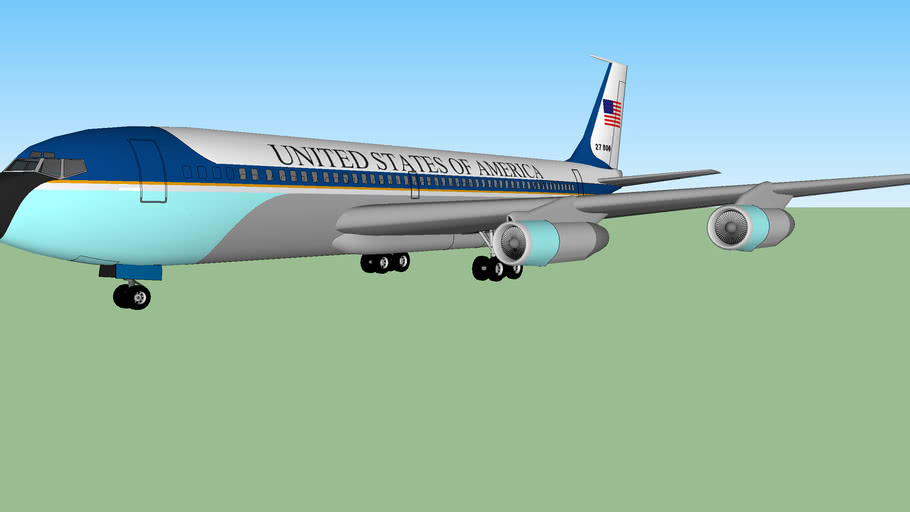 Air Force One boeing 707 SAM 27 000 Ronald Reagan.