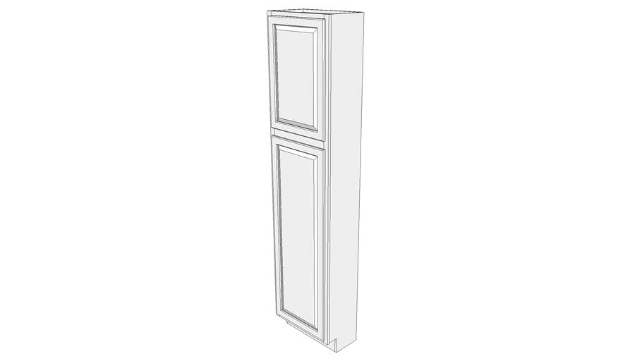 """Briarwood Tall Cabinet 12UCS2190 - 12"""" Deep, with Shelves, One Door"""