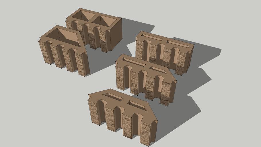 Architectural Split Rib Block