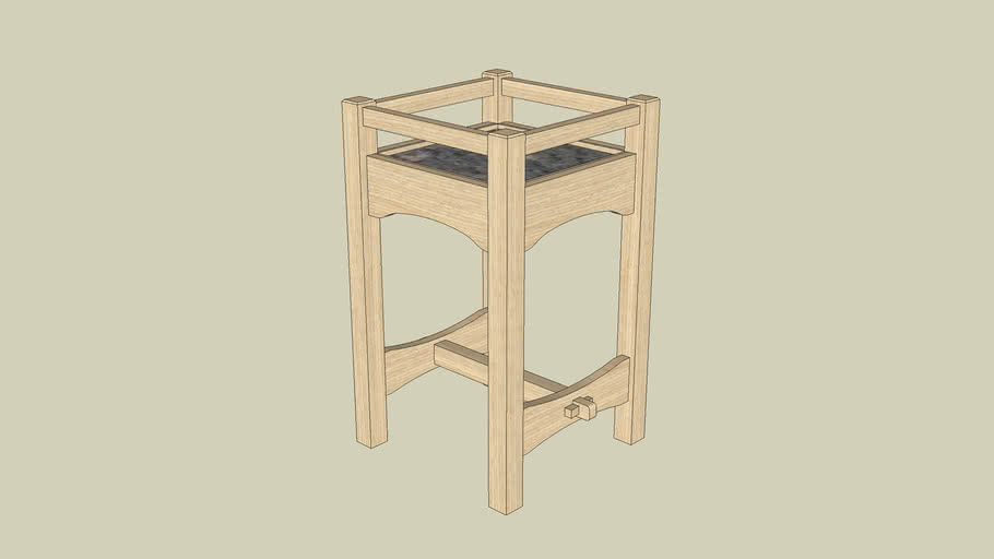 Stickley Plant Stand for Woodworking Magazine Winter 2008 Issue