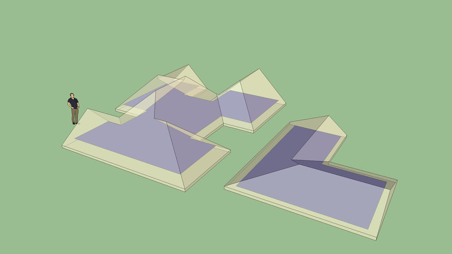 Assymetric Complex Hip and Gable Roof