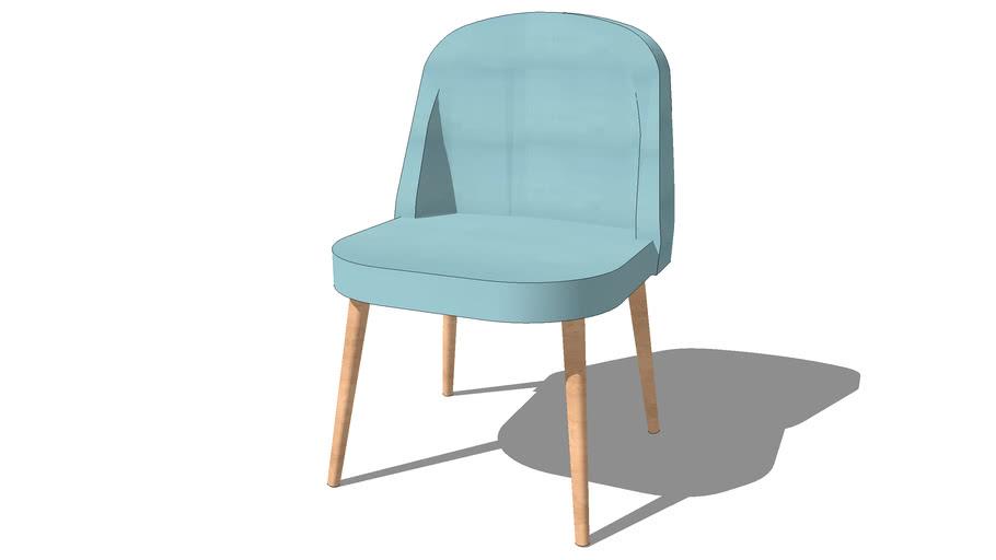 chaise mauricette bleu, maisons du monde, ref 146307 prix : 79,99 €