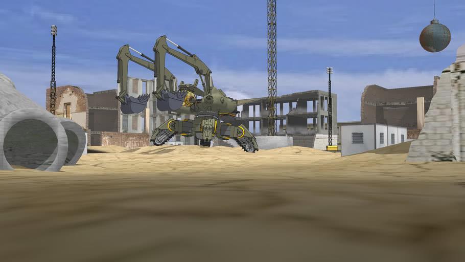 Protótipo de escavadeira hidráulica 2050