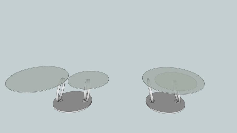 Mesa de centro com tampo rotatorio