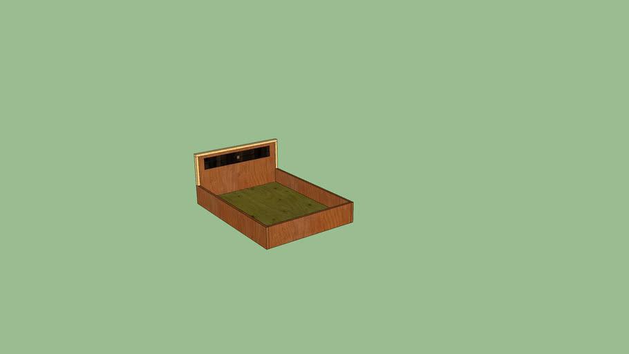 Double Platform Bed