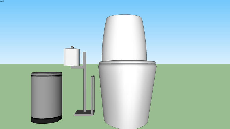 Banheiro / Vaso Sanitario / Lixeira / Papel higienico