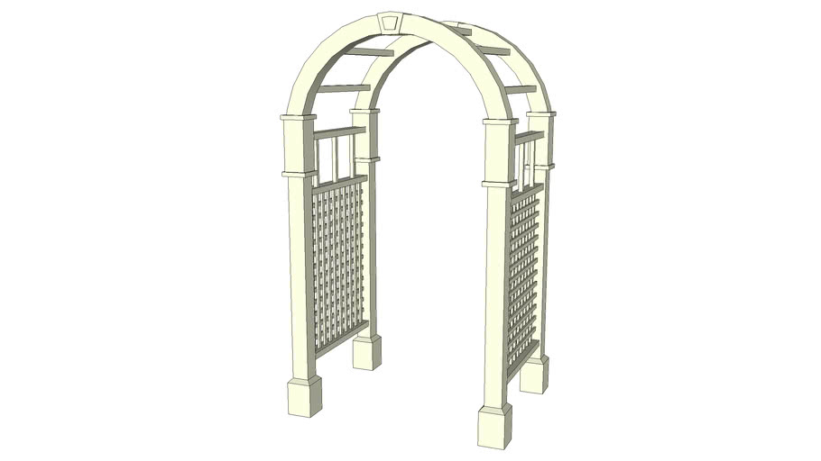 Wood arched arbor