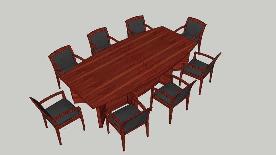 8座会议台 会议桌 会议室 实木会议台 Conference table