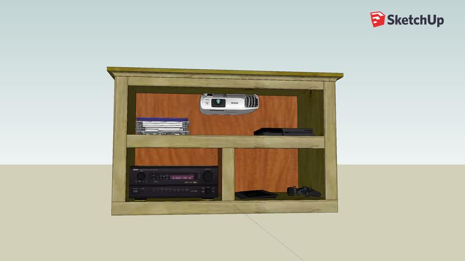 Wall Mount AV Cabinet for Projector