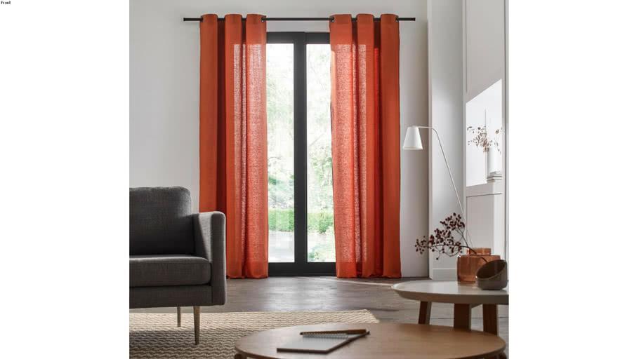 Eyelet Curtain CARLINA by Madura Terracotta / 109€ - 219€ TTC
