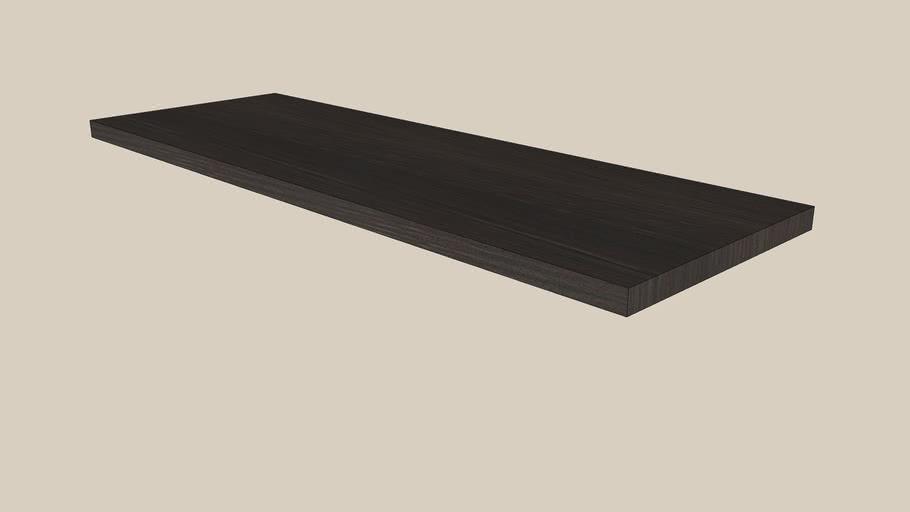 shelf BILLY black-brown 76x26