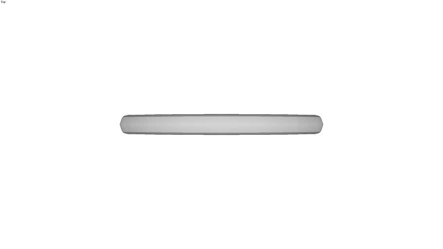 Poign�e ellipse aluminium - Taraud�e - Mate