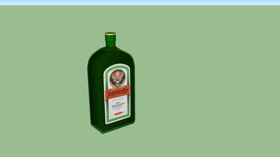 Jägermeister Bottle - Made By Lewis071