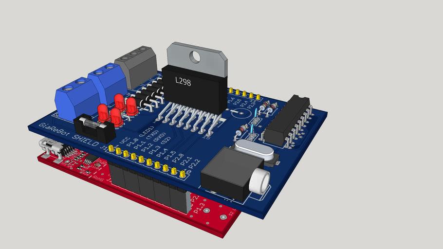 GiaReBot - MSP430 Launch Pad Shield