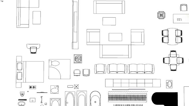 2D Furniture plan