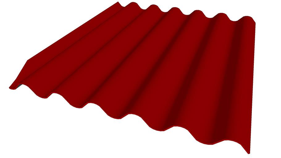 Plaque de faîtage Rouge-Brun 1,25M