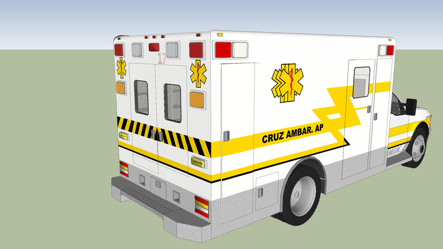 ambulancia de la cruz ambar