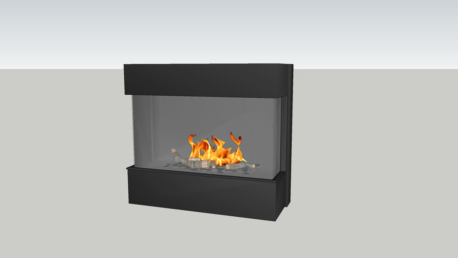 Barbas Gas Fire Panorama 110-55 with 4 cm frame