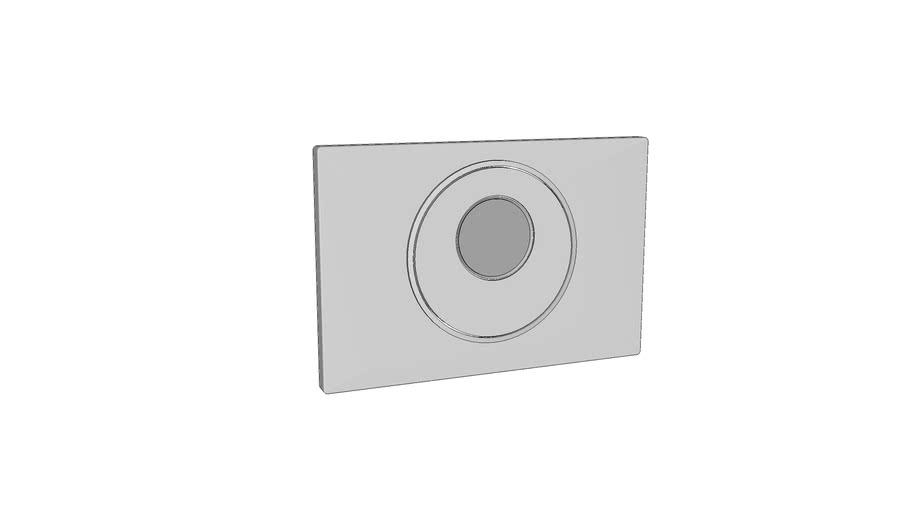 115.890 - Geberit Sigma10 WC flush control with electronic flush actuation, dual flush, automatic/touchless/manual