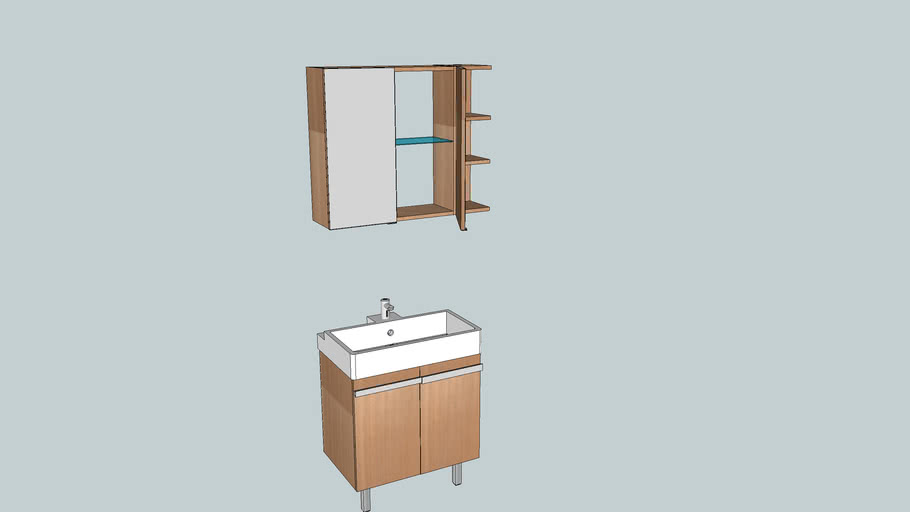 Bathroom Sink With Mirror Cabinet 3d Warehouse