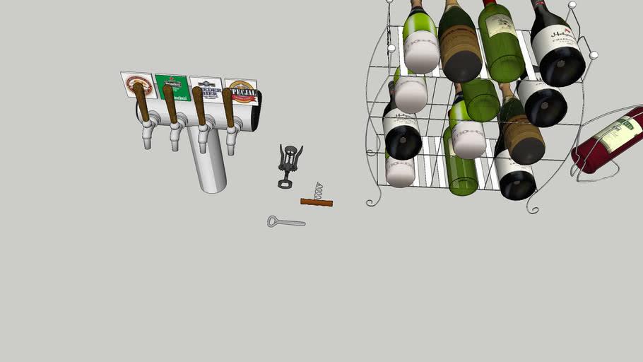 酒吧裝飾  Bar decoration  Beer tap  啤酒龍頭