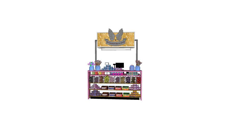 Sweet shop counter