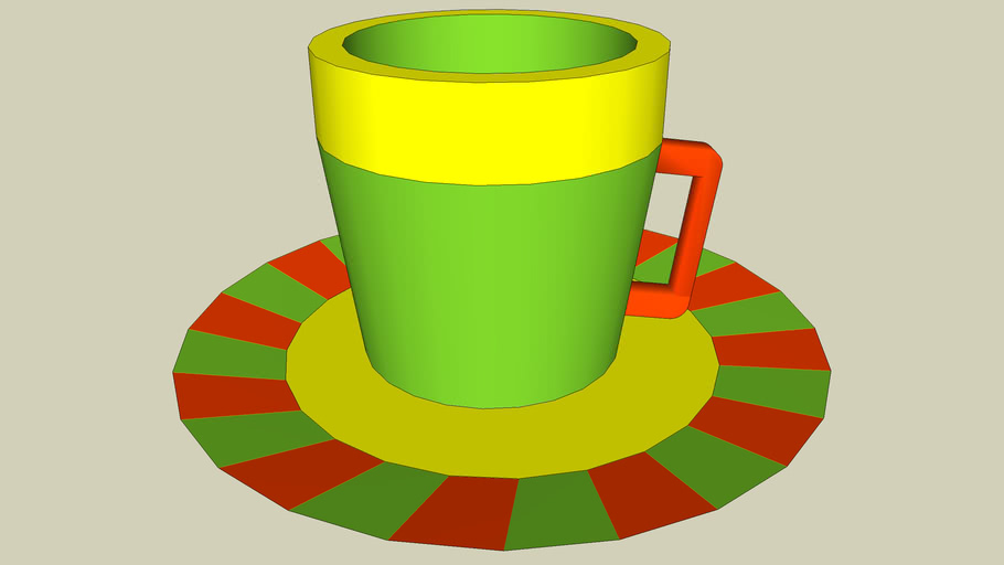 Southwest cup and saucer