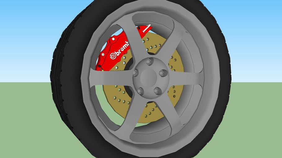 Tuner Wheel (with tread)