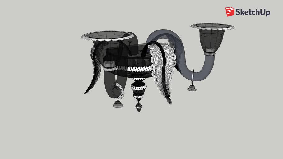 Wall lamp murano black glass 2