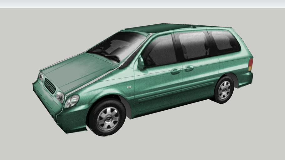 Car KIA Carnival Sedona Basic. To scale.