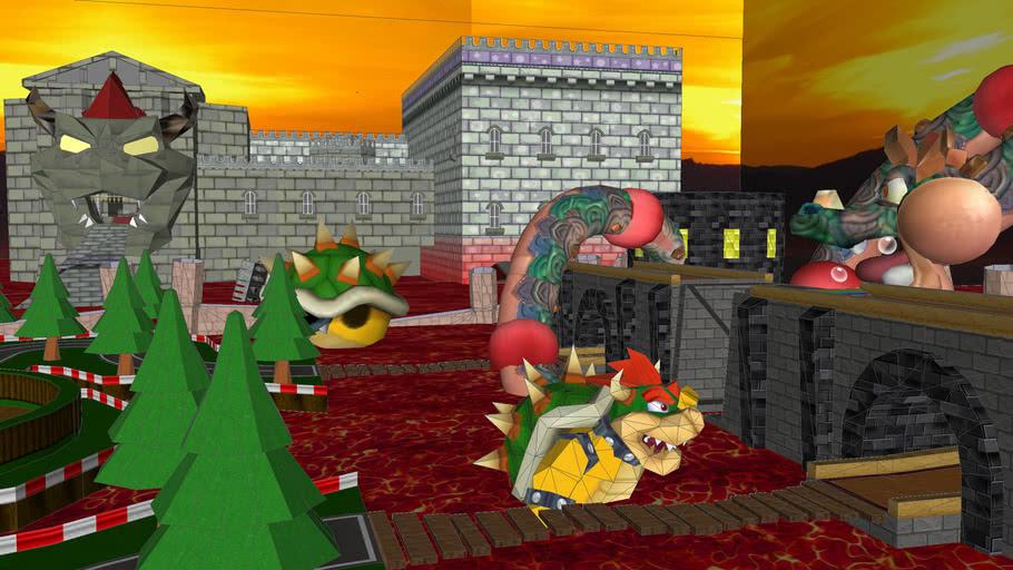 Bowser S Dam Circuit Mario Kart Wii Custom Tracks 3d