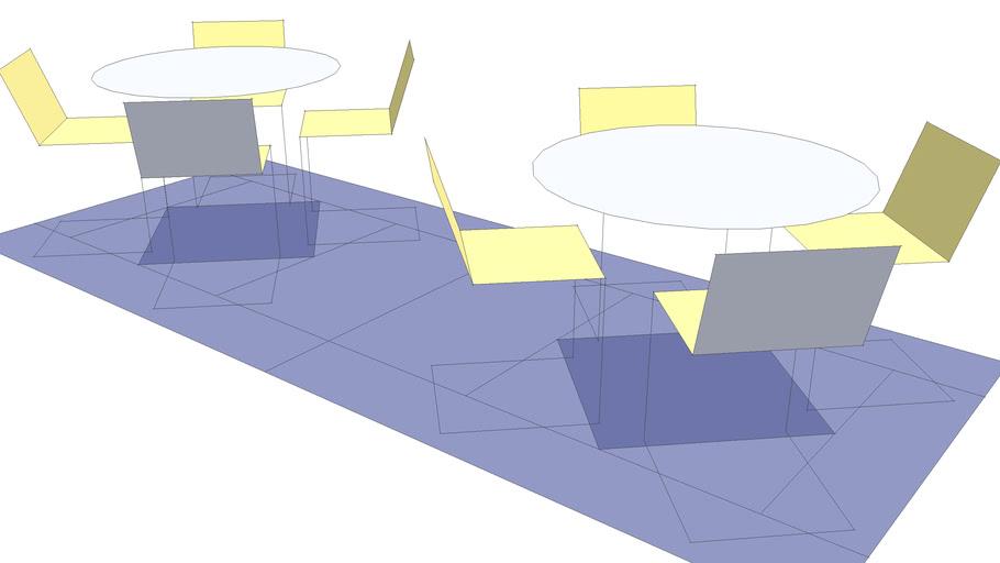 Tables Circular BLOCK Layout Dynamic DC