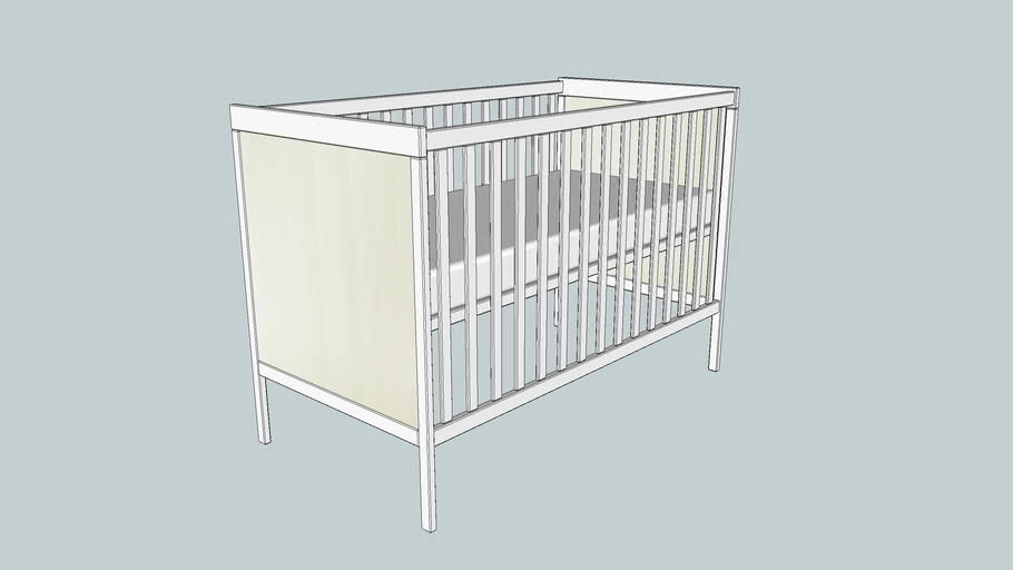 Ikea Sundvik Cot White 3d Warehouse